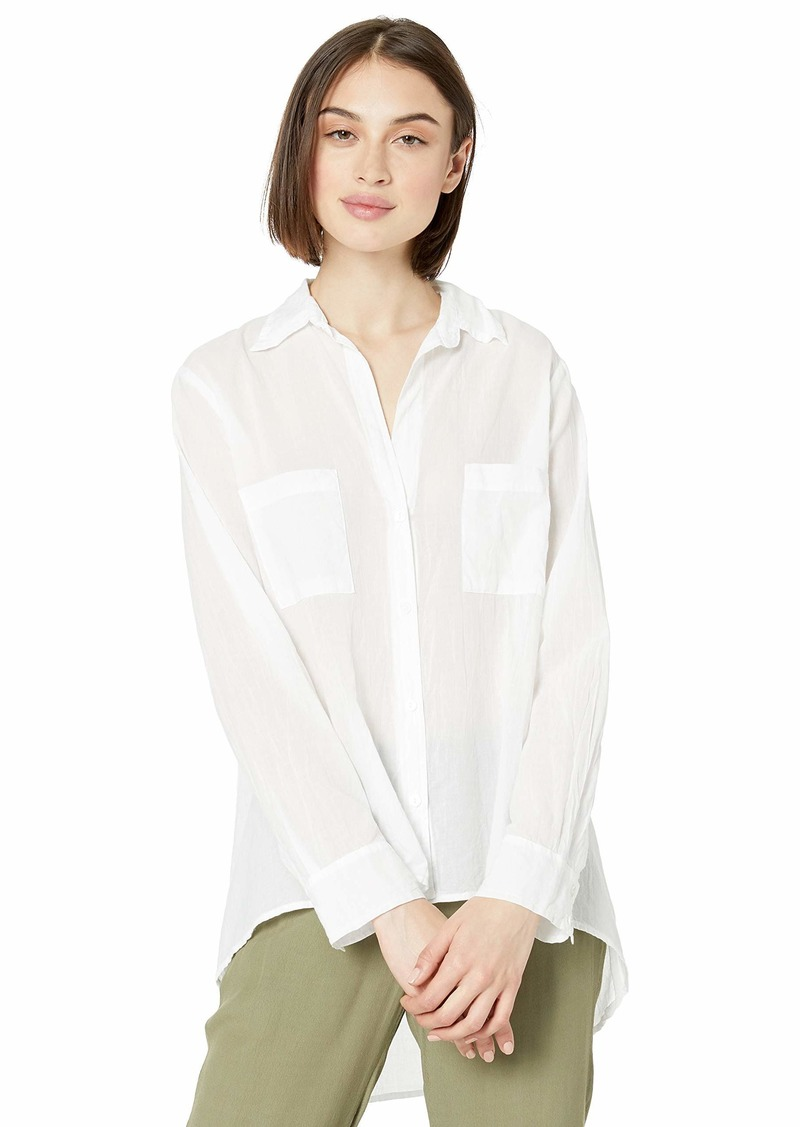 Enza Costa Women's Voile Long Sleeve Hi-Lo Shirt