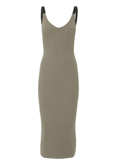 Enza Costa Gia Military Ribbed Dress