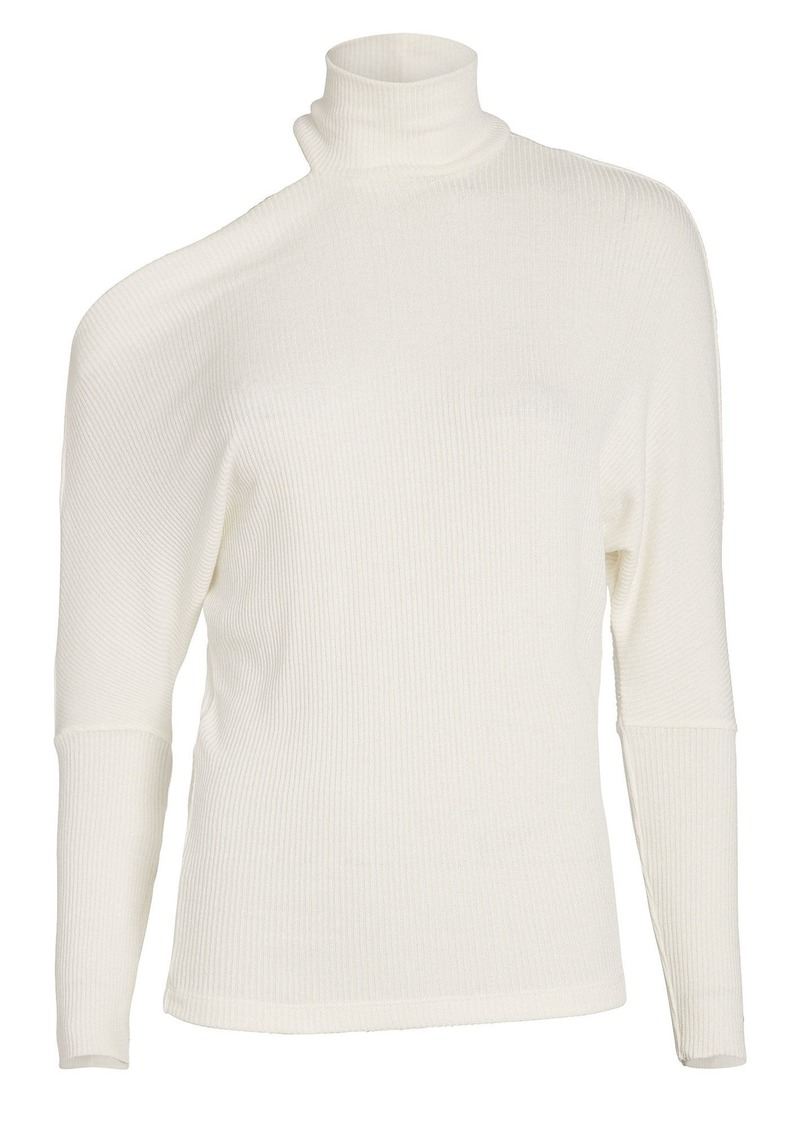 Enza Costa Hearther Cut-Out Ribbed Top