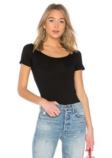 Enza Costa Jersey Short Sleeve Scoop Top