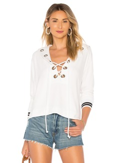 Enza Costa Lace Up Top