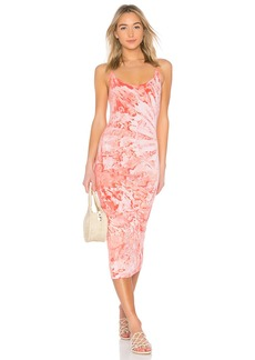 Enza Costa Pima Stretch Jersey Back Slit Dress