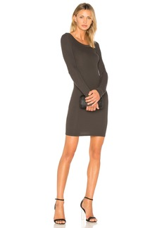 Enza Costa Rib Crew Neck Mini Dress