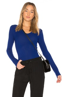 Enza Costa Rib Fitted Long Sleeve Top