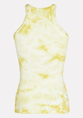 Enza Costa Ribbed Knit Tie-Dye Tank Top