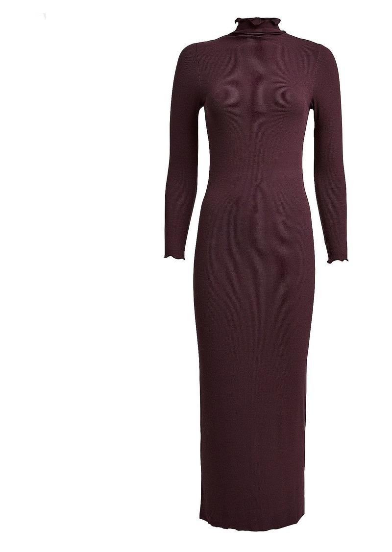Enza Costa Ribbed Turtleneck Dress