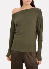 Enza Costa Slouch Rib Knit Top