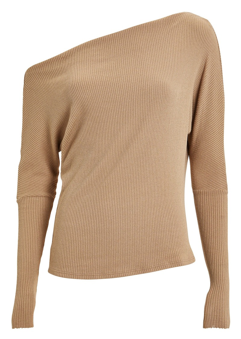 Enza Costa Slouch Ribbed Jersey Top
