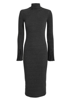 Enza Costa Split Sleeve Turtleneck Dress