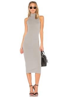 Enza Costa Turtleneck Midi Dress