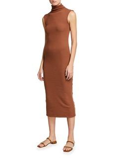 Enza Costa Turtleneck Sleeveless Sweater Bodycon Dress