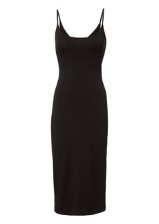 Enza Costa Twist Back Ribbed Midi Dress