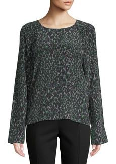 Equipment Abeline Printed Silk Top