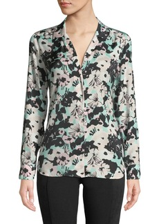 Equipment Adalyn Backlight Floral Button-Down Blouse