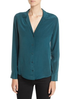 Equipment Adalyn Long-Sleeve Silk Blouse