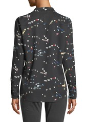 Equipment Adalyn Refracted Heart Button-Down Blouse
