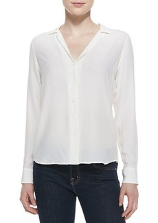 Equipment Adalyn Silk Long-Sleeve Blouse