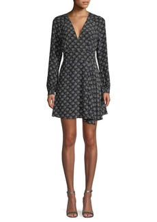 Equipment Alexandria Star-Print Silk Dress