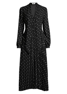 Equipment Amirin Polka-Dot Button-Front Dress