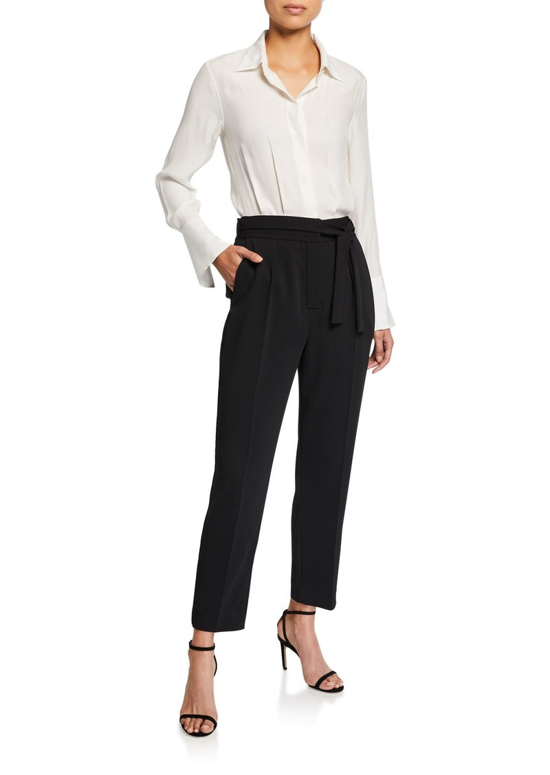 Equipment Andrea Two-Tone Long-Sleeve Jumpsuit