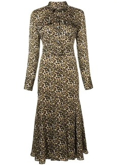 Equipment animal print shirt dress