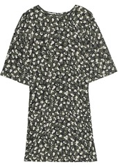 Equipment Arlinne foliage print silk dress