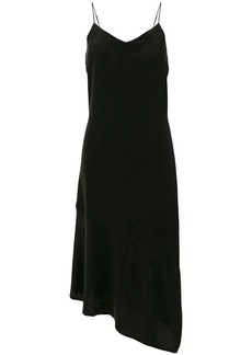 Equipment asymmetric hem slip dress