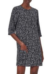 Equipment Aubrey Leopard-Print Silk Shift Dress