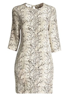Equipment Aubrey Python-Print Shift Dress