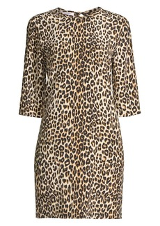Equipment Aubrey Silk Animal Print Dress