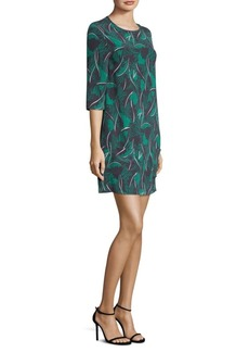 Equipment Aubrey Tropical Shadows Silk Dress