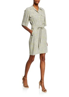 Equipment Axelle Printed Short-Sleeve Shirtdress
