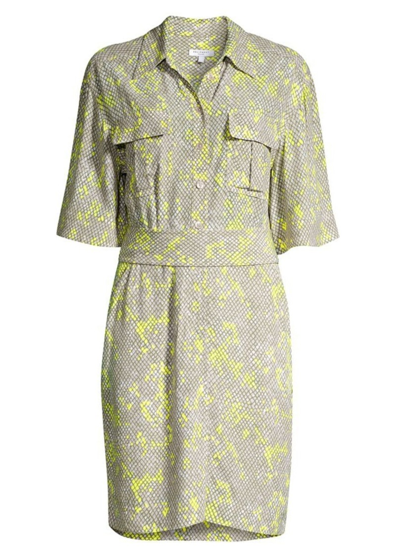 Equipment Axelle Reptile Print Shirtdress