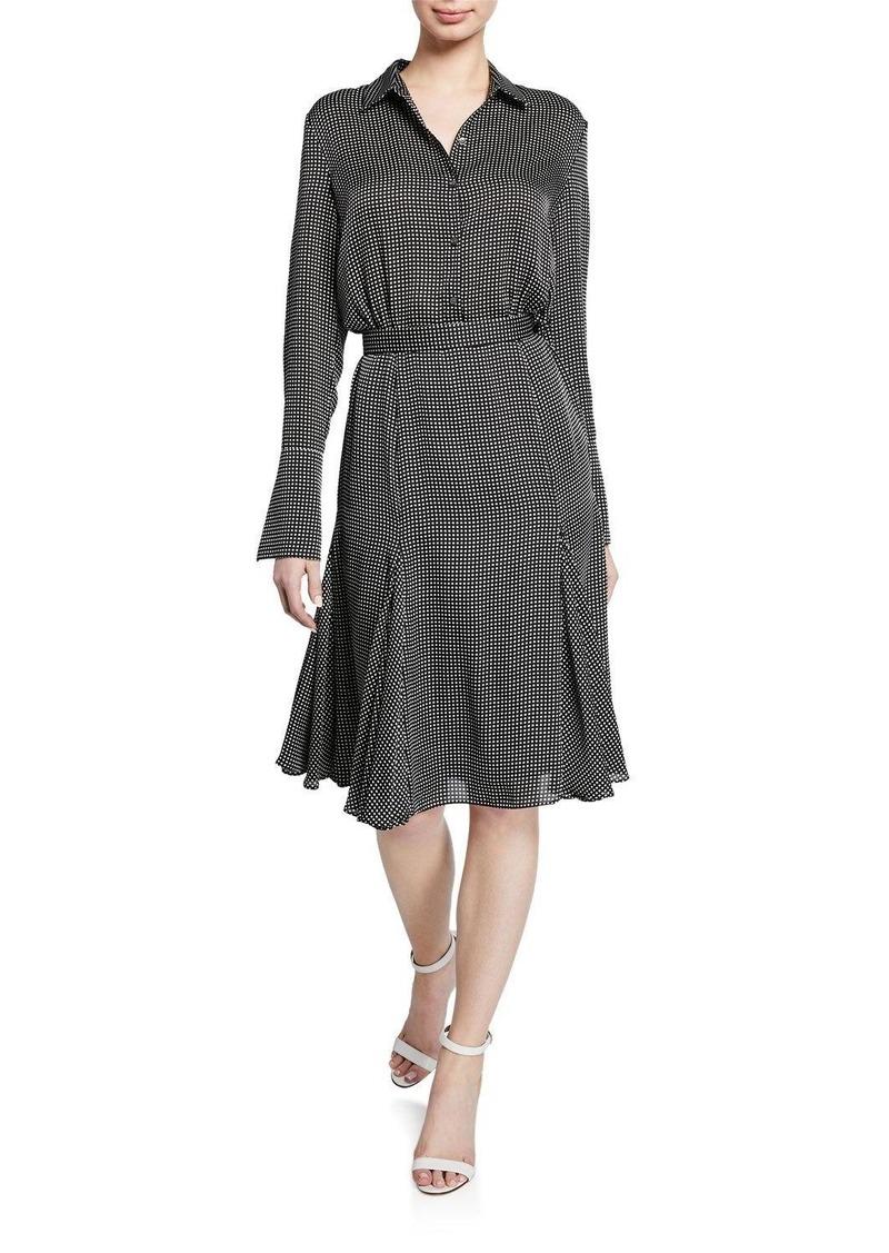 Equipment Bancort Check Long-Sleeve Dress