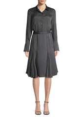 Equipment Bancourt Dot Print A-line Shirtdress