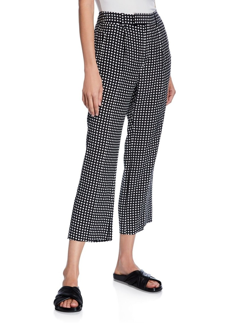 Equipment Bergen Cropped Check Pants