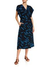 Equipment Bijou Short-Sleeve Wrapped Dress