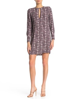 Equipment Bonnie Snake Print Keyhole Shift Dress