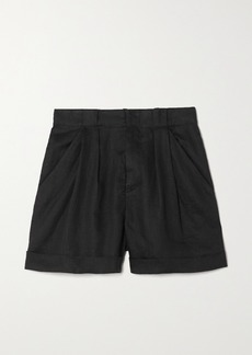 Equipment Boyde Pleated Linen Shorts