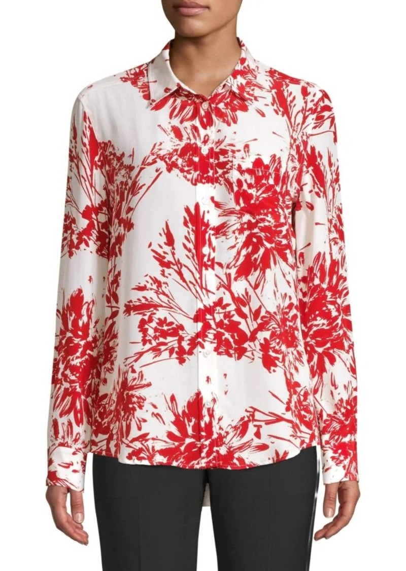 Equipment Brett Floral Shirt