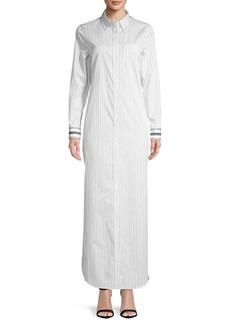 Equipment Brett Striped Cotton Maxi Dress