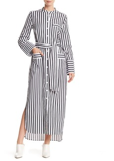 Equipment Britten Striped Button Down Maxi Dress