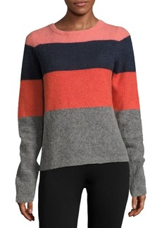 Equipment Calais Striped Colorblock Pullover
