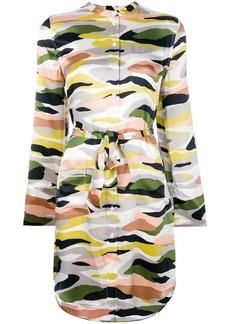 Equipment camouflage print shirt dress