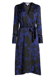 Equipment Cherylene Floral Wrap Dress