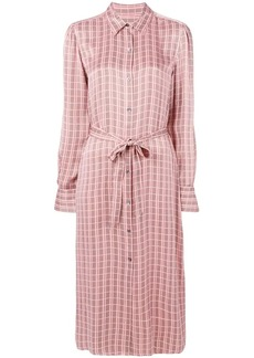 Equipment classic check shirt dress