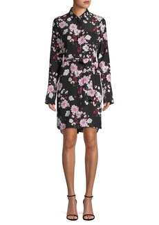 Equipment Clea Floral Silk Shirtdress