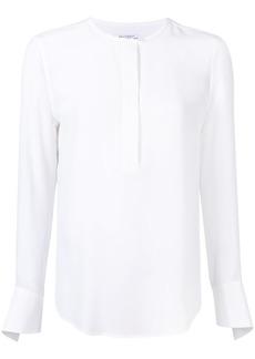 Equipment collarless blouse