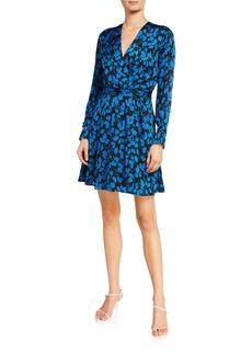 Equipment Collie Floral-Print Long-Sleeve Dress