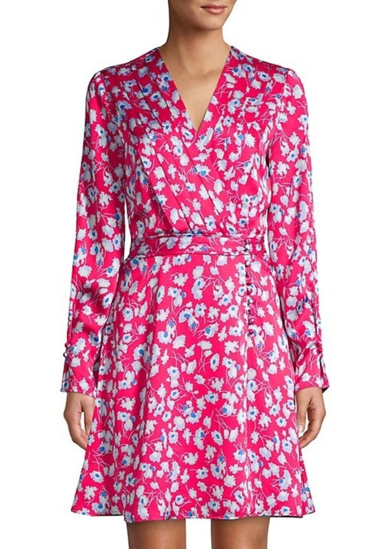 Equipment Collie Floral Silk Dress